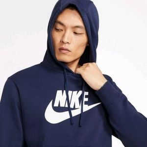 NWT, Nike Men Black Fleece Pullover Hoodie, M